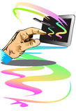 The hand of experience of technology Stock Photo
