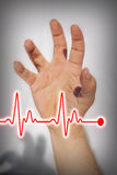 Hand expressing heart attack - Medical concept Stock Images