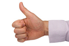 Hand expressing positive sign Stock Image