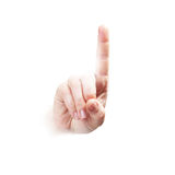 Hand expressing, series from one to five Royalty Free Stock Photography