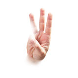 Hand expressing, series from one to five Stock Photos
