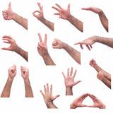 Hand expressions Royalty Free Stock Photography