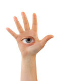 Hand with eye Stock Photo