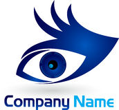 Hand eye logo Stock Photography