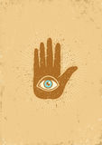 Hand and eye Royalty Free Stock Image