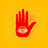 Hand and eye Stock Image
