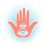 Hand and eyes Stock Image