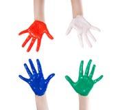 Hand färgad färg Royaltyfria Foton