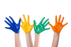 Hand färgad färg Fotografering för Bildbyråer