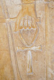 hand för 2 ankh Arkivfoto