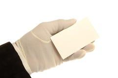 hand för affärskort arkivbild