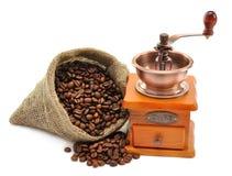 hand för bönakaffegrinder royaltyfri foto