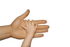 Hand för barn` s Arkivfoton