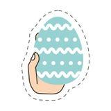 hand för easter ägg som hing Arkivfoton