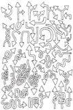 hand för element för pilsamlingsdraw stock illustrationer