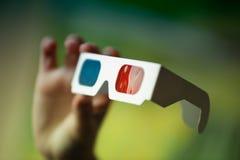 hand för exponeringsglas 3d Arkivbild
