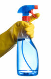 hand för flaskcleaning Arkivfoton