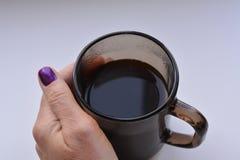 hand för kaffekopp Royaltyfri Bild