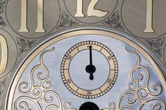 hand för klockaframsida second royaltyfri fotografi