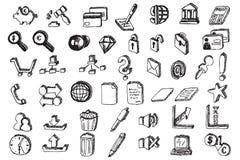 hand för kommunikationsdrawelement Arkivbild