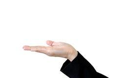 Hand för kopieringsutrymmeAsien kvinna Royaltyfri Fotografi