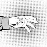 Hand för man` som s är hållande ut för något Man som kallar för Man som frågar för något Royaltyfri Fotografi