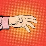 Hand för man` som s är hållande ut för något Man som kallar för Man som frågar för något handman s Nå ut något Royaltyfri Foto