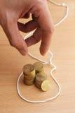 Hand falling for Financial loan trap Stock Photo