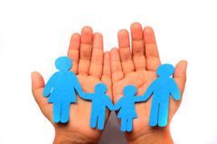 Hand with family Stock Photo