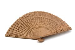 A hand fan Stock Images