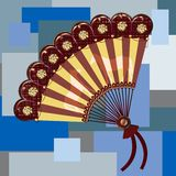 Hand fan Stock Photo