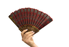 Hand with fan royalty free stock photos