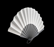 Hand fan on a black background. 3d. Open hand fan on a black background. 3d render image Royalty Free Stock Photo