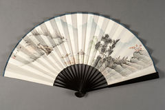Hand fan of chinese theater Stock Photos