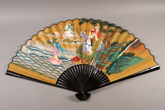 Hand fan of chinese theater Royalty Free Stock Photo
