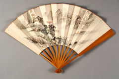 Hand fan of chinese theater Royalty Free Stock Photography
