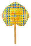 Hand fan plastic weave chinese style. Royalty Free Stock Images