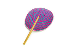 This is a hand fan It is thai basketry Royalty Free Stock Images