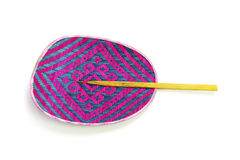 This is a hand fan It is thai basketry Stock Photo