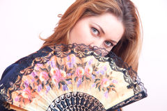 Hand fan Stock Photography