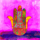 Hand Of Fatima. The protective Hand of Fatima  also known as Hamsa Royalty Free Stock Image