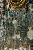 Hand of Fatima or Hamsa amulet or Miriams Hand Miriam`s Hand. Amulet popular throughout the Middle East and North. Hand of Fatima or Hamsa Khamsa amulet or royalty free stock photos
