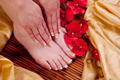 Hand and feet Royalty Free Stock Photos