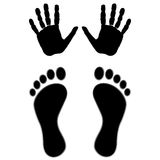 Hand and feet Royalty Free Stock Images