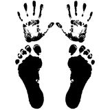Hand and feet Royalty Free Stock Photography