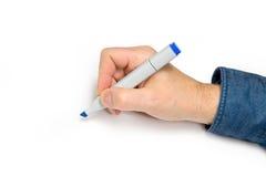Hand with felt pen Stock Photos