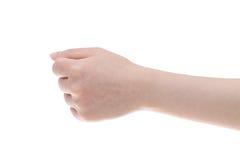 Hand female fist closeup Stock Photo