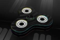 Hand fidget spinner toy - 3d illustration Stock Photos