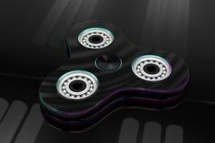 Hand fidget spinner toy - 3d illustration Stock Image