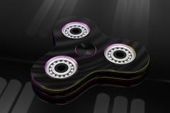 Hand fidget spinner toy - 3d illustration Stock Images